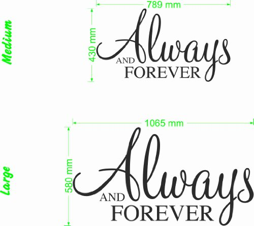 Always and Forever - Wall Quote (Color: Lemon Size: - Lemons Forever