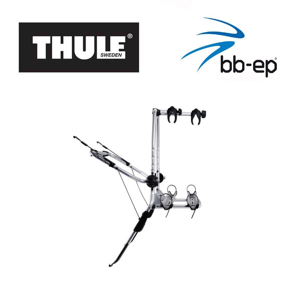Einfacher Thule Heck-Fahrradtr/äger 90505196 zum Transport von 2 R/ädern auf der Heckklappe passend f/ür FORD Fiesta