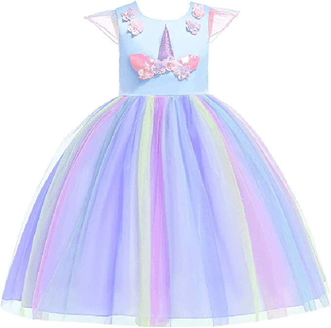 Bmeigo Vestido de Princesa Niña Chicas Disfraz Lujoso Equipar para ...