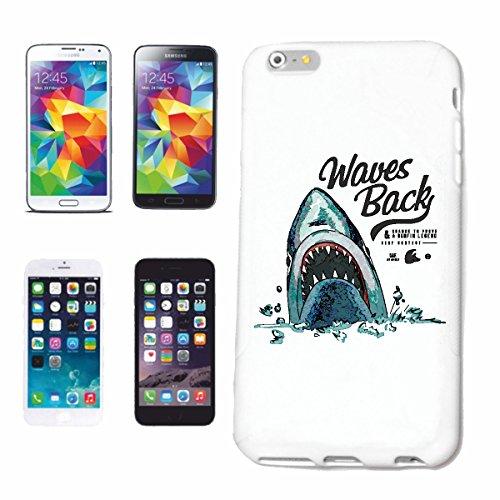 """cas de téléphone iPhone 6+ Plus """"WAVES RETOUR WHITE SHARK SHARK HAI HAI MEGALODON HUMAINE ATTAC BLEU SHARK Hammerhai récif blacktip whalesharks requin mako"""" Hard Case Cover Téléphone Covers Smart Cove"""