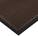 Notrax 141 Ovation Entrance Mat, for Main Entranceways and Heavy Traffic Areas, 3' Width x 10' Length x 5/16'' Thickness, Brown