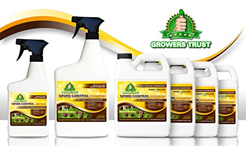 Growers Trust Spore Control Non-Toxic, Biodegradable - Natural Fungicide -Treatment (Solution Makes 5 Gallon RTU) by Growers Trust