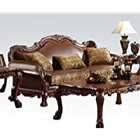 ACME 15160 Dresden Sofa with 3 Pillows, Chenille PU Finish