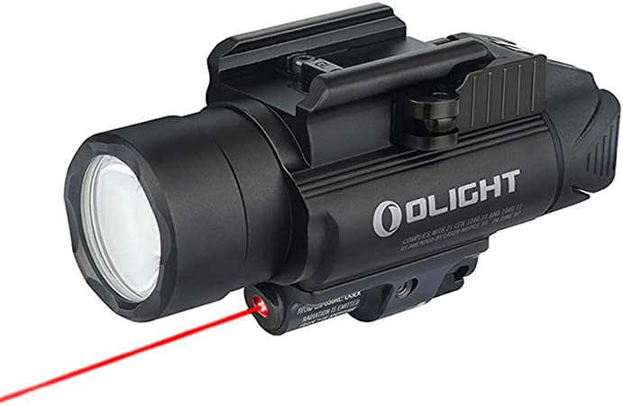 OLIGHT Baldr RL 1120 Lumens LED Rail-Mounted Weaponlight with Red Light and White LED, 240 Meters Beam Distance Tactical Light Powered by 2 x CR123A Batteries