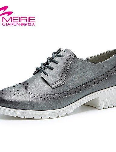 ShangYi Damenschuhe - Sportschuhe - Lässig - Denim Jeans - Blockabsatz - Rundeschuh / Geschlossene Zehe - Schwarz / Weiß / Grau White