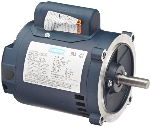(Leeson 100355.00 General Purpose Drip-Proof C Face Motor, 1 Phase, S56C Frame, Round Mounting, 1/3HP, 3600 RPM, 115/208-230V Voltage, 60Hz Fequency)