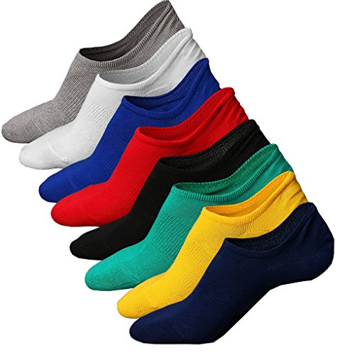 Lot Evedaily Confortable De Socquettes En Chaussettes Invisible 1 Silicone Coton Avec Basses Couleur Respirantes Antidérapante 8 Paires Design Homme q11waxdR