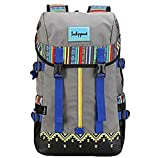 GuPoBoU168 Canvas Bookbag Daypack Backpack Laptop Bag for School College Teens Girls Boys Students, Pattern B Review