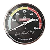 "SmokeWare - Multi-Colored Black Temp. Gauge (Large 3"" Face)"