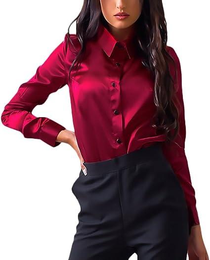 huixin fashion Camisas Mujer Manga Larga Fiesta Elegantes ...