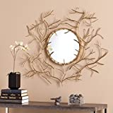 Upton Home Round Branch Mirror, Gold