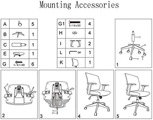 Xiuyun kontorsstol spelstol svängbar stol, ergonomisk stol, komfortstol, justerbar höjd, andningsbar tjock kudde, PU Caster med låg brus, 4 färger (färg: Grön)