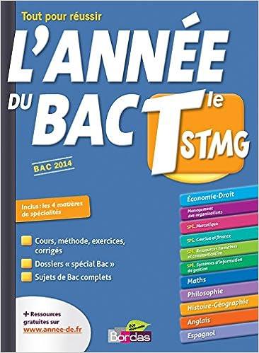 Lannée du Bac Tle STMG (Lannée de): Amazon.es: Xavier Cadoret: Libros en idiomas extranjeros