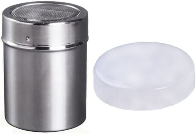 Stainless Steel Chocolate Shaker Salt Shakers Icing Sugar Powder Coffee Sifter