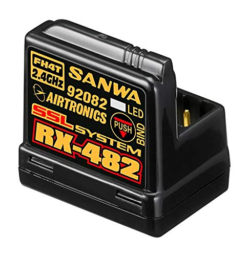 Price comparison product image Sanwa Snw107A41259A 4-Channel Rx-482 Telemetry Rx W / Built-In Antenna