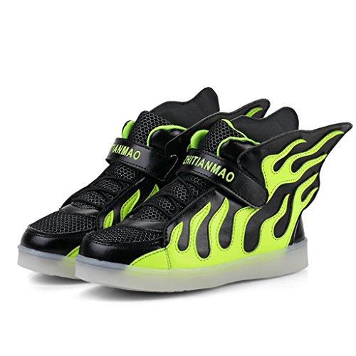 MagiDeal Zapatos de Luz LED Niños De Moda Intermitentes Plantillas Iluminación Noche Diseño Único Portátil