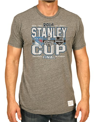 Retro New York Rangers Los Angeles Kings Brand 2014 Stanley Cup Finals T-Shirt (M)