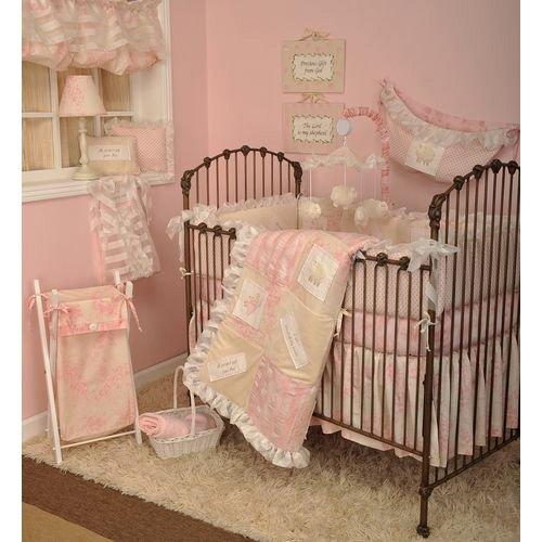 Heaven Sent Girl 7 Piece Crib Bedding Set ()