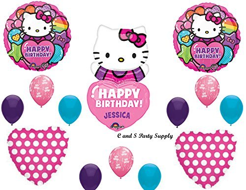 HELLO KITTY PERSONALIZED Birthday Party Mylar Balloons Decorations Supplies by Anagram]()