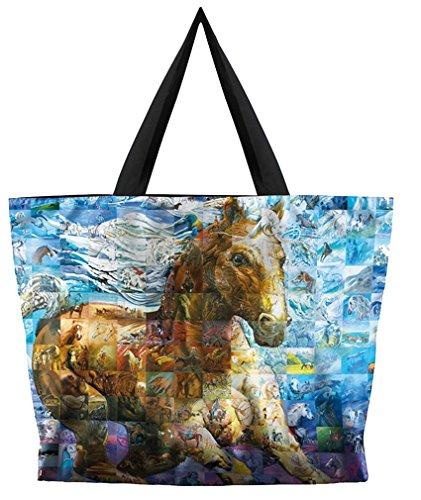 - Kuyou Women's Designs Print Handbags Shoulder Bags (horse)
