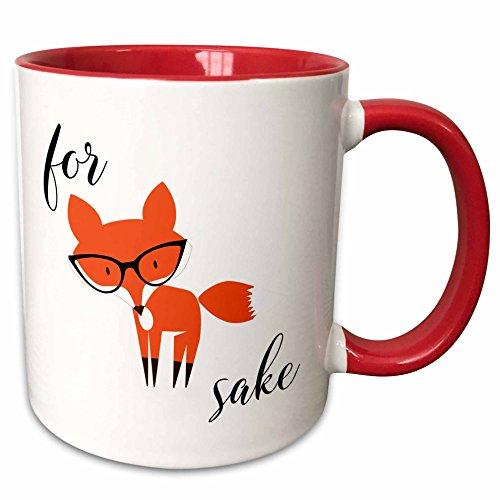 3dRose 235574_5 For For Fox Sake Mug 11 oz Red from 3dRose