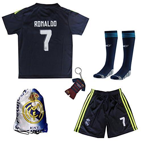 6c399816b76 Real Madrid Soccer Blue Third 3rd Jersey Shorts Ronaldo # 7 Uniform Kids  Youth Soccer-International Clubs ...