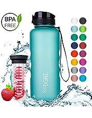 """720°DGREE Leakproof Water Bottle """"uberBottle"""" - 1.5 litre   Kids, School, Sports, Bike   BPA Free Tritan   With Fruit Infuser"""