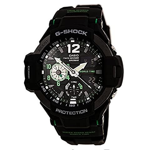 G-Shock Men's GA-1100 Gravitymaster Watch, Black/Silver, One Size (Gshock Watches Master Of G)