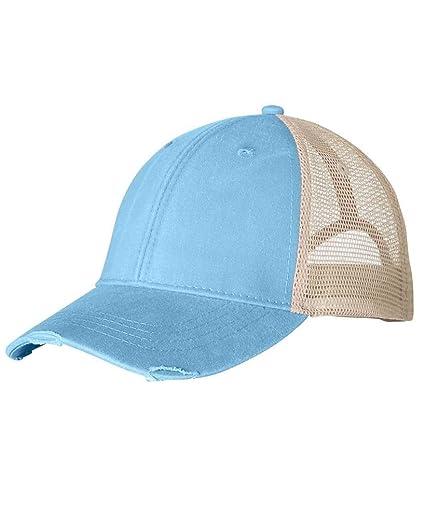 707a0a36 Adams AD OL102 6PNL DSTRSD TRKR Cap, Baby Blue/TAN, OS at Amazon ...