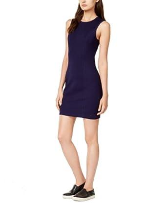 c43b4cadbc6f8 GIORGIO ARMANI Armani Exchange Mini Dress (Solid Navy, L) at Amazon Women's  Clothing store: