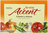 Sa-son Accent Seasoning, Culantro y Achiote (Coriander & Annato Seasoning), 36 Packets , 0.17 Oz (Pack of 15)