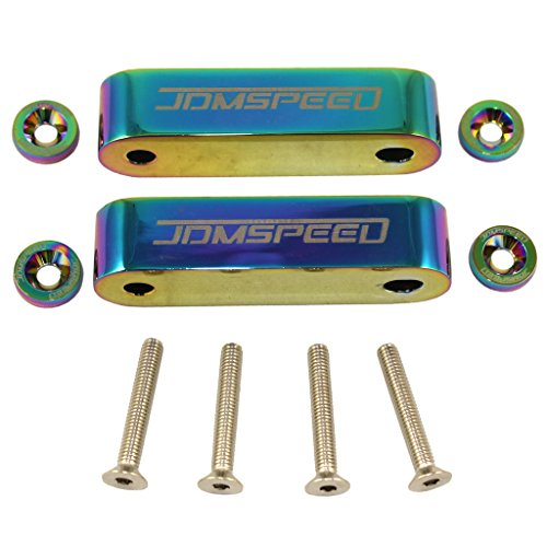 JDMSPEED Neo Chrome CNC Billet 3/4