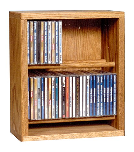 (Wood Shed The 206-12 C Solid Oak CD Cabinet, Clear)