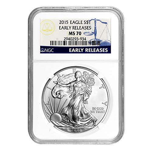 2015 Silver Eagle Early Releases $1 MS-70 NGC