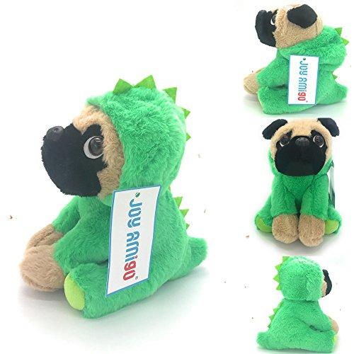 Pugs In Dinosaur Costumes (Stuffed Pug Dog Puppy Soft Cuddly Animal Toy in Costumes Dressed As a Dinosaur - Super Cute Quality Teddy Plush 10 Inch)