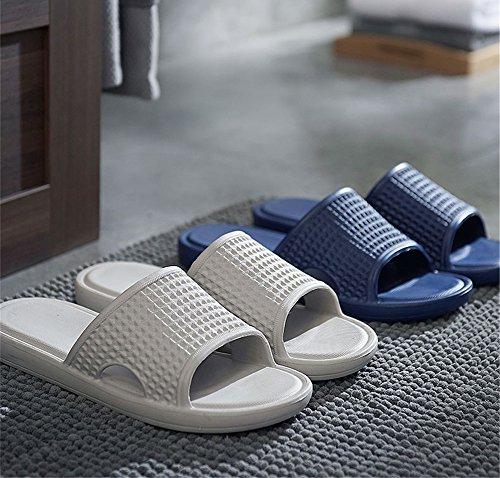 TELLW Bathroom Slippers for Male Female Summer Home Indoor Anti-Slip Thick Bottom Cool Slippers Men Gray 9fsd2TEr