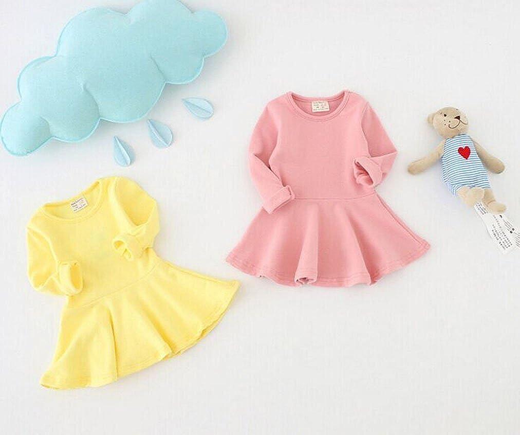 12-18 Months Gray Fayele Baby Girls Long Sleeve Cotton One-piece Dress