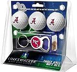 LinksWalker NCAA Alabama Crimson Tide - 3 Ball Gift Pack with Key Chain Bottle Opener