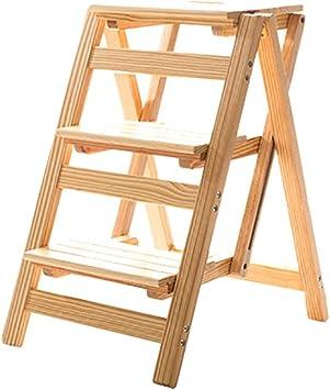 AFDK Escalera Taburete Taburete Taburete Portátil Multifunción 3 escalones Madera Taburete plegable 4 escalones Sillas para niños Escaleras interiores,3 pasos: Amazon.es: Bricolaje y herramientas