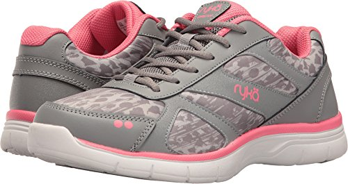 Ryka Women's Dream Training Shoe,Frost Grey/Summer Grey/Calypso Coral,US 7.5 W