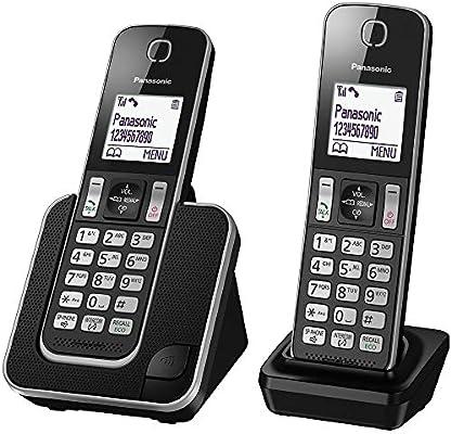 Panasonic KX-TGD312 - Teléfono fijo inalámbrico Dúo (LCD, identificador de llamadas, agenda de 120 números, bloqueo de llamada, modo ECO, reducción de ...