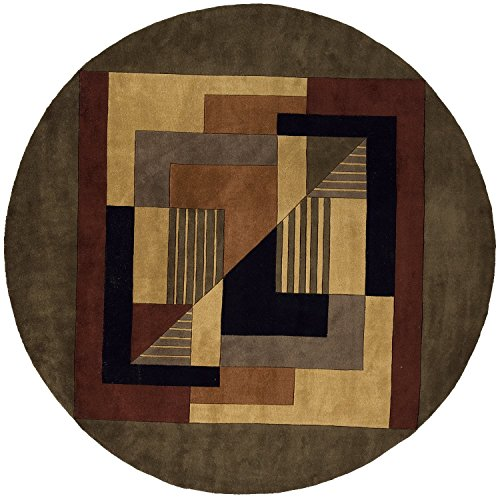 Momeni Rugs NEWWANW-06POM790R New Wave Collection, 100% Wool Hand Carved & Tufted Contemporary Area Rug, 7'9