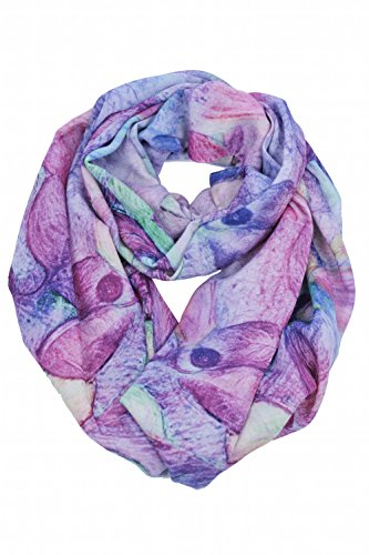 Abstract Scarf (100% 80s Fine Wool Scarf Scarves Shawl Lightweight Wraps With Gift Packaging (Purple Abstract))