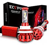 ECCPP LED Headlight Bulbs Conversion Kit High Power Bright- 9004 - 80W,9600Lm 6K Cool White CREE - 3 Yr Warranty