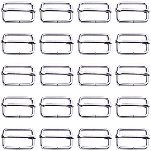 - BoNaYuanDa 30pcs Metal Sliding Bar Triglides Wire-formed Roller Pin Buckles Handbag Strap Adjuster