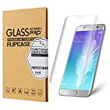Galaxy S7 Edge Screen Protector ,Flipcase Galaxy S7 Edge Tempered Glass Protector [9H Hardness][Full Screen Coverage]Screen Protector for Samsung Galaxy S7 Edge