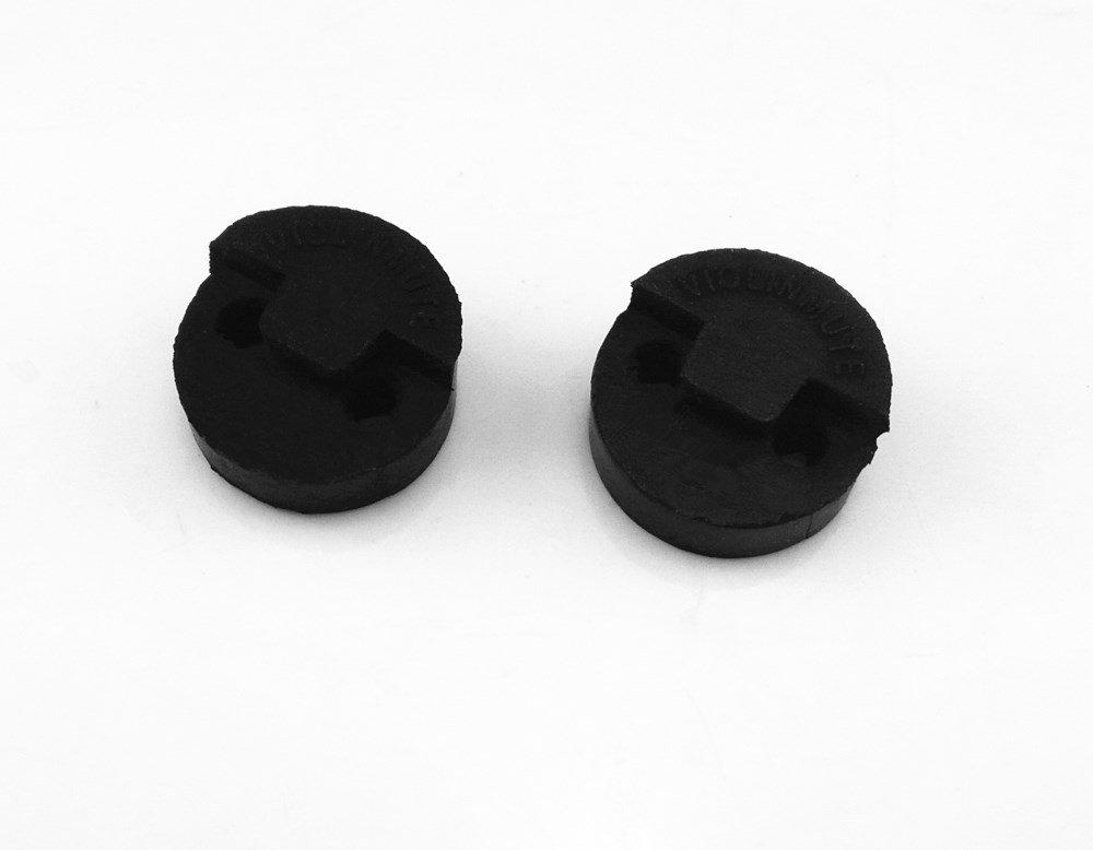 Honbay 2pcs Black Rubber Round Violin Viola Mute