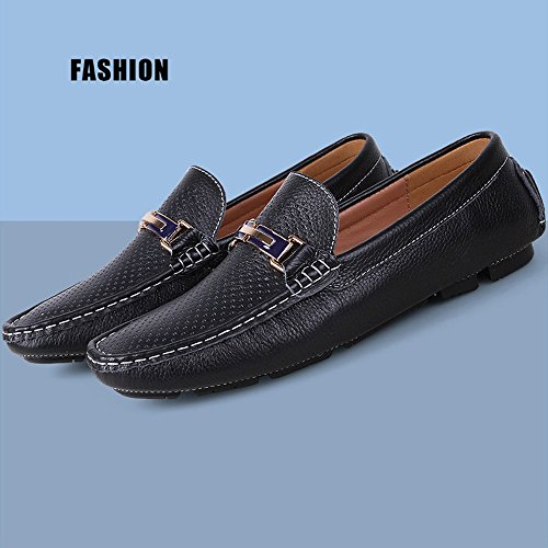 Cavo da Cricket Scarpe Nero Color Mocassini Mocassini Solid Boat in Casual Shoes Penny Uomo da Gomma per Suola Guida apaxgUZR