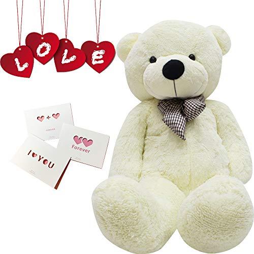 Big Cute Plush Teddy Bear Huge Plush Animals Teddy Bear Girl Children Girlfriend Valentine's Day White (24 inches, ()