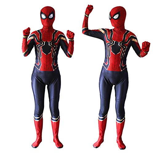 Unisex Lycra Spandex Zentai Halloween Cosplay Costumes Adult/Kids 3D Style (Kids-M Red and Blue -